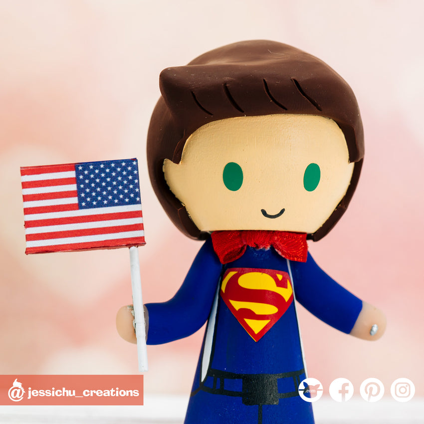 Superman | DC | Custom Handmade Wedding Cake Topper Figurines | Jessichu Creations