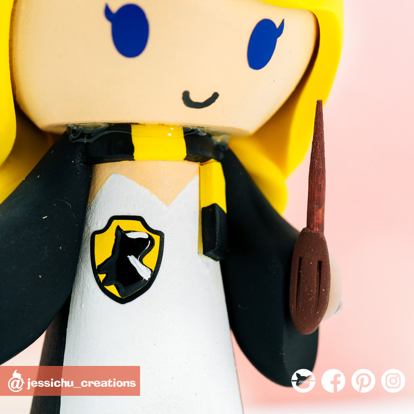 Harry Potter Hufflepuff | HP | Custom Handmade Wedding Cake Topper Figurines | Jessichu Creations