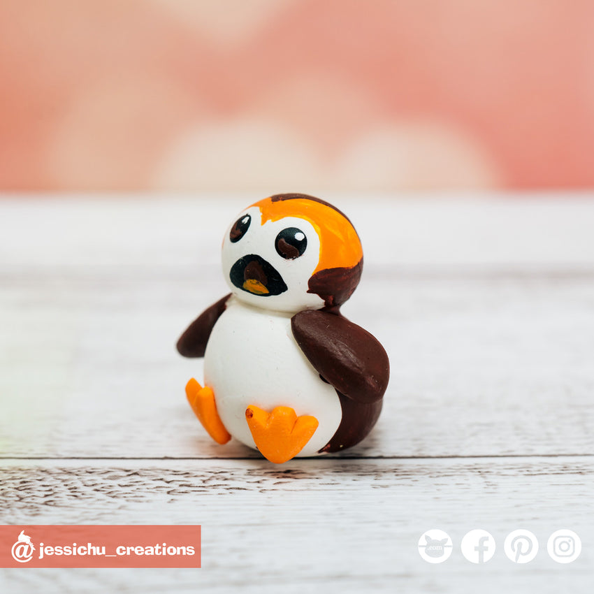 Porg | Star Wars | Sidekicks | Custom Handmade Wedding Cake Topper Figurines | Jessichu Creations