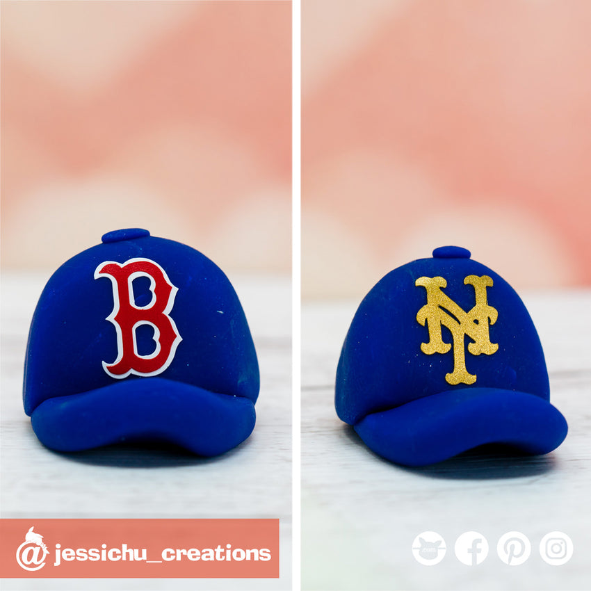 Boston Cubs & NY Yankees Cap | Accessories | Custom Handmade Wedding Cake Topper Figurines | Jessichu Creations