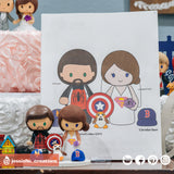 Spiderman & Supergirl with Porg | DC x Marvel x Star Wars | Custom Handmade Wedding Cake Topper Figurines | Jessichu CreationsSpiderman & Supergirl with Porg | DC x Marvel x Star Wars | Custom Handmade Wedding Cake Topper Figurines | Jessichu Creations
