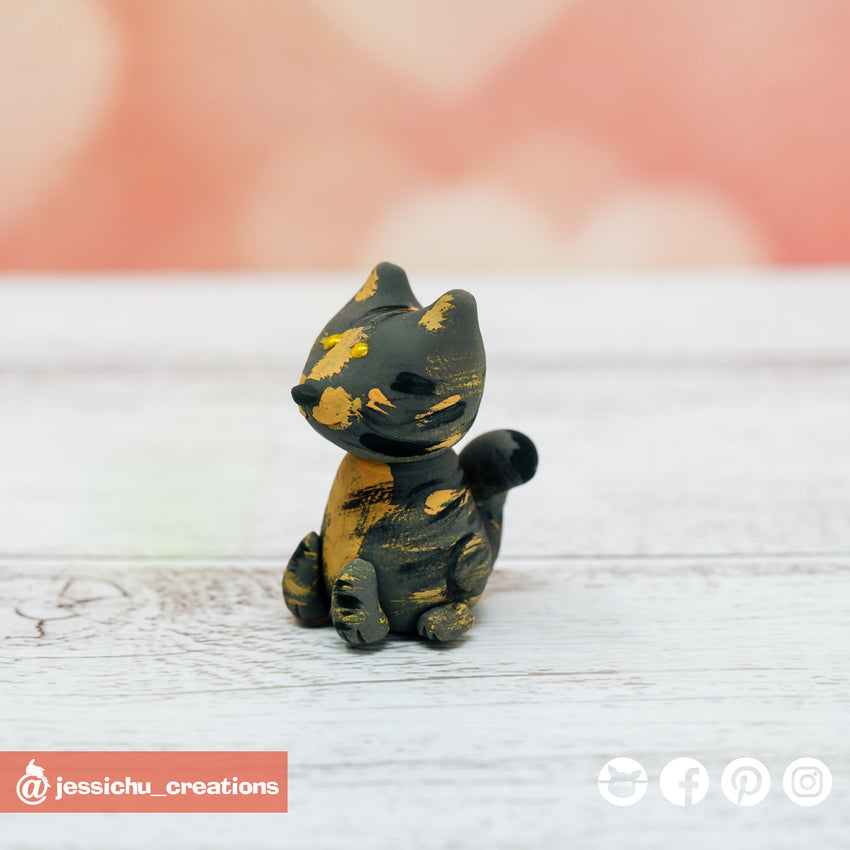 Cat | Pets | Custom Handmade Wedding Cake Topper Figurines | Jessichu Creations