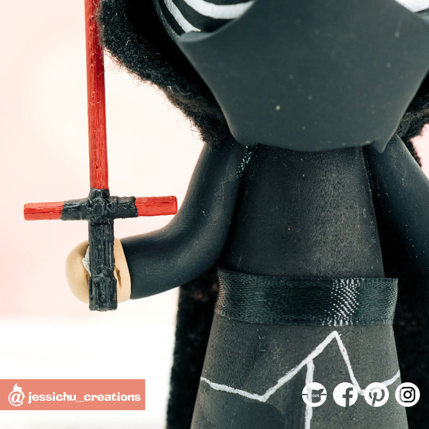 Kylo Ren | Star Wars | Custom Handmade Wedding Cake Topper Figurines | Jessichu Creations
