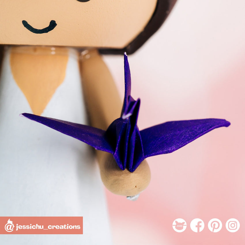 Origami Paper Cranes | Accessories | Custom Handmade Wedding Cake Topper Figurines | Jessichu Creations