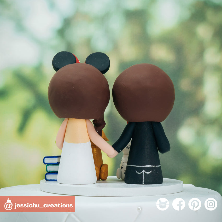 Flash Groom & Minie Mouse Bride - DC x Disney Inspired Wedding Cake Topper | Wedding Cake Toppers | Cake Topper Gallery | Jessichu Creations