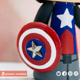 Captain America Groom & Agent 13 Sharon Carter Bride Inspired Marvel Wedding Cake Topper | Wedding Cake Toppers | Cake Topper Gallery | Jessichu Creations