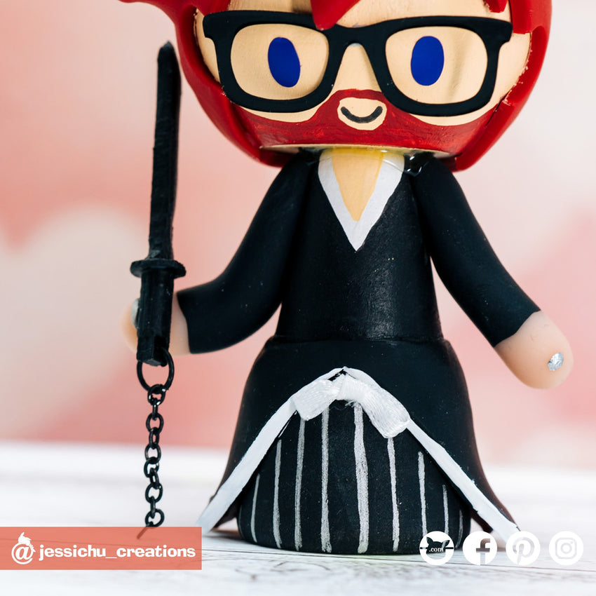 Ichigo | Bleach | Custom Handmade Wedding Cake Topper Figurines | Jessichu Creations