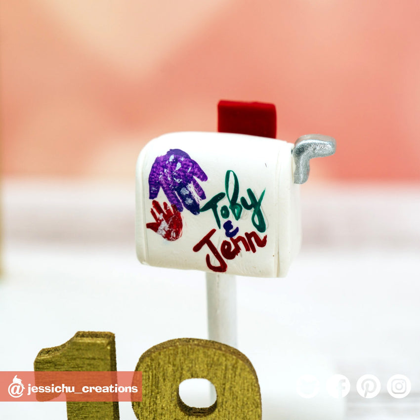 Carl & Ellie UP Mailbox | Disney x Pixar | Custom Handmade Wedding Cake Topper Figurines | Jessichu Creations