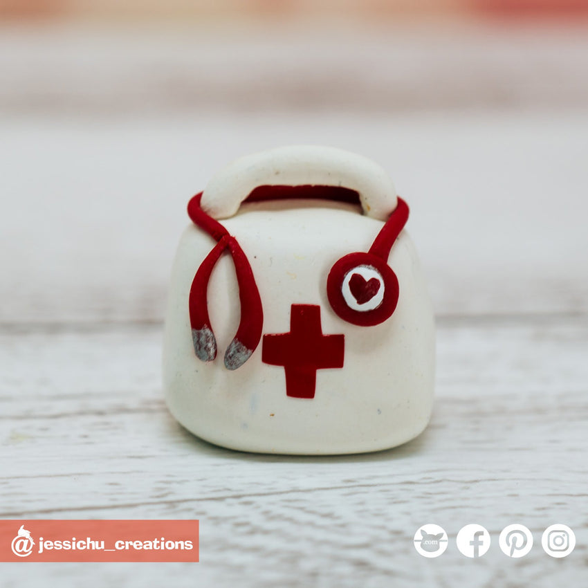 Doctor's Medical Bag | Accessories | Custom Handmade Wedding Cake Topper Figurines | Jessichu Creations