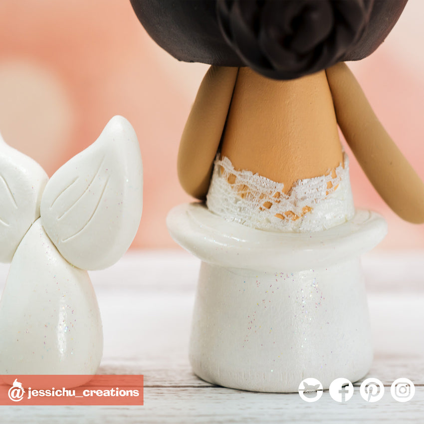 White Power Ranger Groom & Mermaid Bride - Power Rangers x Disney Inspired Wedding Cake Topper | Wedding Cake Toppers | Cake Topper Gallery | Jessichu Creations