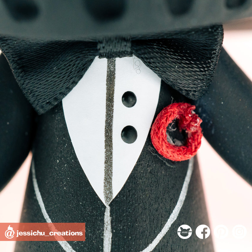 Darth Vader Groom & Bride Inspired Vintage Star Wars Wedding Cake Topper | Wedding Cake Toppers | Cake Topper Gallery | Jessichu Creations