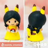 Pikachu Child | Custom Handmade Wedding Cake Topper Figurines | Jessichu Creations