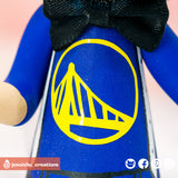 Golden State Warriors Fan & Minnie Mouse Bride - Sports x Disney Inspired Wedding Cake Topper | Wedding Cake Toppers | Cake Topper Gallery | Jessichu Creations
