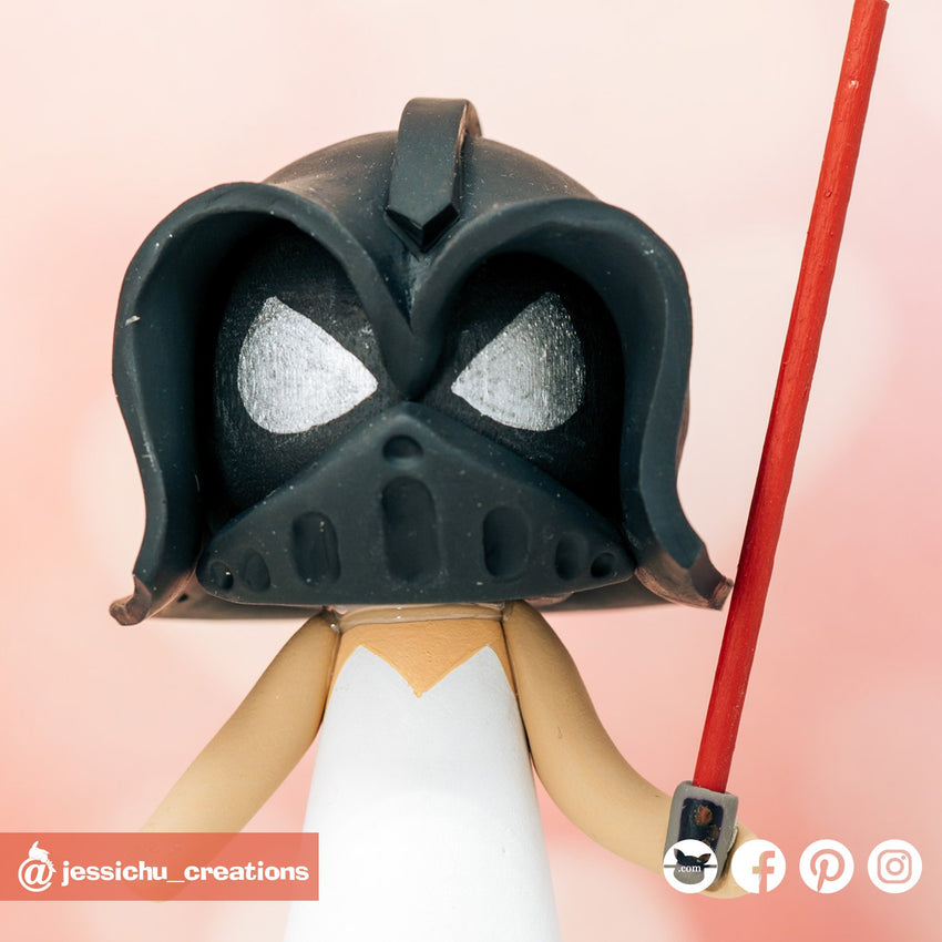 Darth Vader | Star Wars | Custom Handmade Wedding Cake Topper Figurines | Jessichu Creations