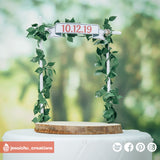 Wreath Bridge | Signs | Custom Handmade Wedding Cake Topper Figurines | Jessichu Creations