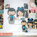 Nightwing Groom & Minnie Mouse Bride | Disney x DC | Custom Handmade Wedding Cake Topper Figurines | Jessichu Creations
