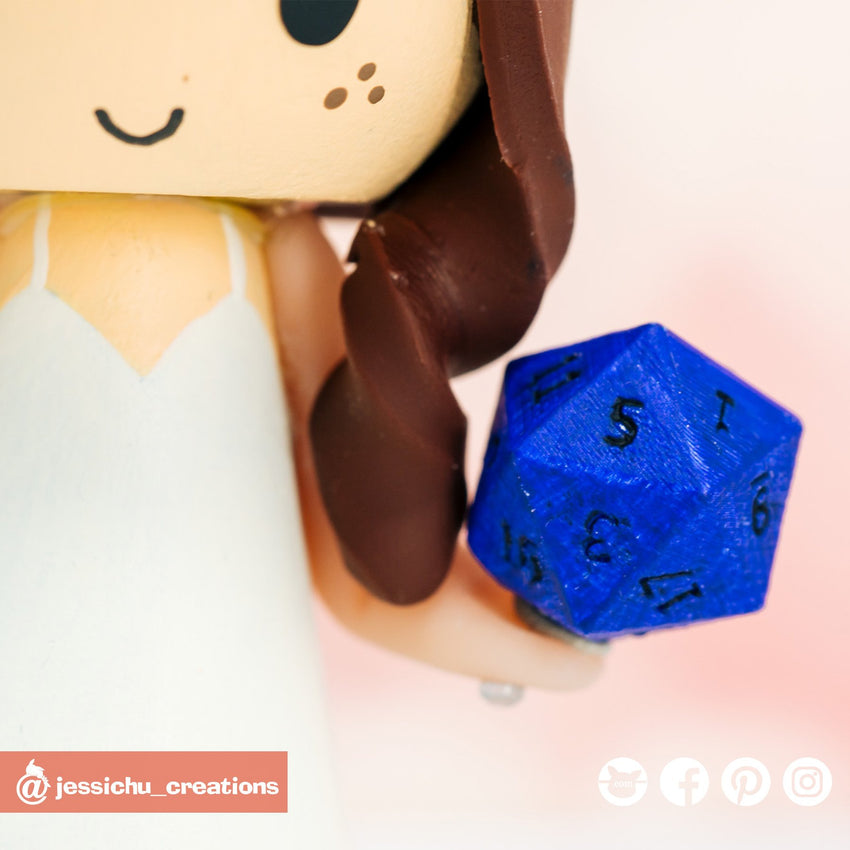 D20 Dice | Accessories | Custom Handmade Wedding Cake Topper Figurines | Jessichu Creations