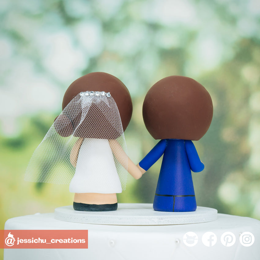 Catana Comics Inspired Custom Handmade Figurine Wedding Cake Topper | Wedding Cake Toppers | Cake Topper Gallery | Jessichu Creations