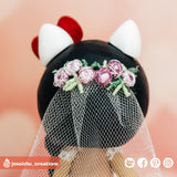 Stitch Groom & Hello Kitty Bride Inspired Disney x Sanrio Inspired Wedding Cake Topper | Wedding Cake Toppers | Cake Topper Gallery | Jessichu Creations