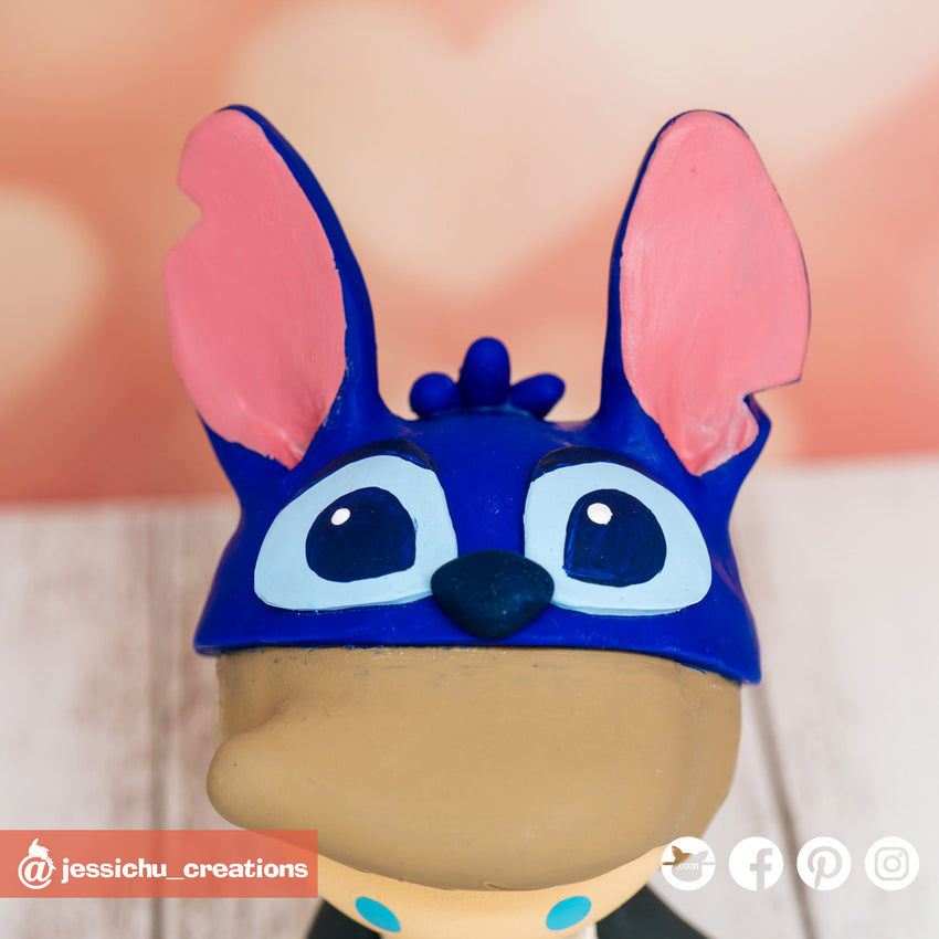 Stitch | Disney | Custom Handmade Wedding Cake Topper Figurines | Jessichu Creations