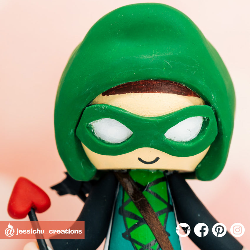Green Arrow | DC | Custom Handmade Wedding Cake Topper Figurines | Jessichu Creations
