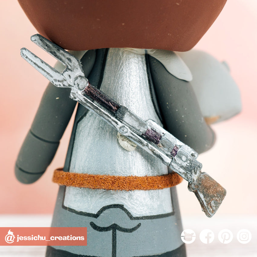 Mandalorian Gun | Star Wars | Custom Handmade Birthday Cake Topper Figurines | Jessichu Creations