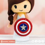 Kingdom Hearts Groom & Captain America Bride with Lightning McQueen Inspired Disney x Marvel x Pixar Wedding Cake Topper | Wedding Cake Toppers | Cake Topper Gallery | Jessichu Creations