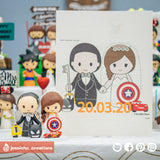 Kingdom Hearts & Captain America with Lightning McQueen | Disney x Marvel x Pixar | Custom Handmade Wedding Cake Topper Figurines | Jessichu Creations