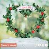 Heart Wreath | Signs | Custom Handmade Wedding Cake Topper Figurines | Jessichu Creations