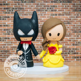 Batman and Belle Wedding Cake Topper | DC x Disney | Jessichu Creations