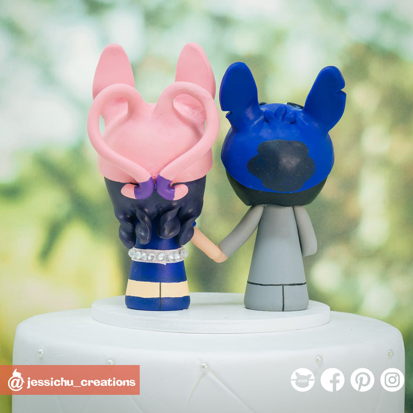 Stitch & Angel Inspired Disney x Lilo and Stitch Inspired Wedding Cake Topper | Wedding Cake Toppers | Cake Topper Gallery | Jessichu Creations