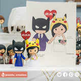 Batman & Pikachu | DC x Pokemon | Custom Handmade Wedding Cake Topper Figurines | Jessichu Creations