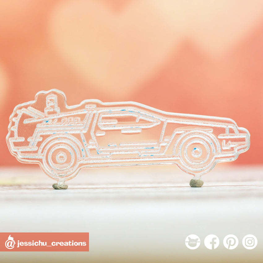 Back to the Future DeLorean | Acrylic Custom Cutout