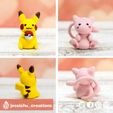 Pokemon Pikachu & Mew | Nintendo Pokemon  | Custom Handmade Wedding Cake Topper Figurines | Jessichu Creations