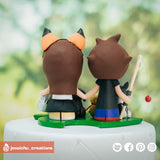 Animal Crossing Couple - Nintendo Inspired Custom Handmade Wedding Cake Topper Figurines | Wedding Cake Toppers | Cake Topper Gallery | Jessichu Creations