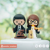 Harry Potter | Slytherin & Gryffindor | Handmade Wedding Cake Topper | Jessichu Creations