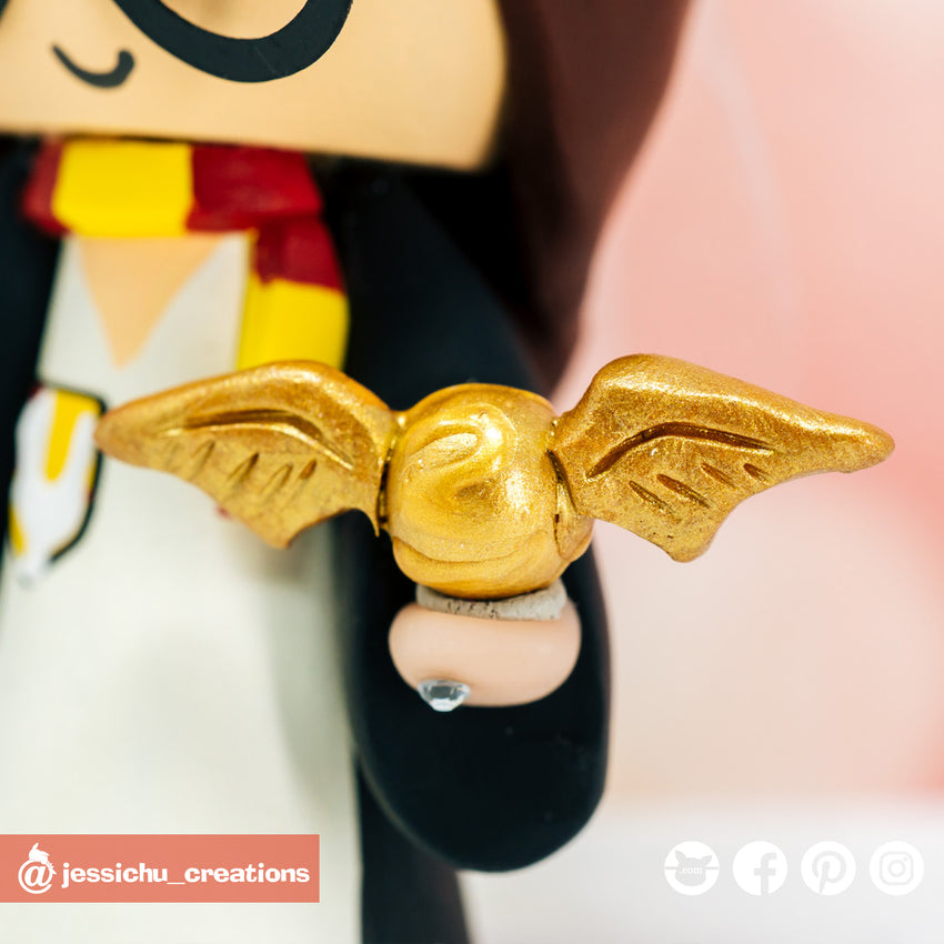 Golden Snitch | Accessories | Custom Handmade Wedding Cake Topper Figurines | Jessichu Creations