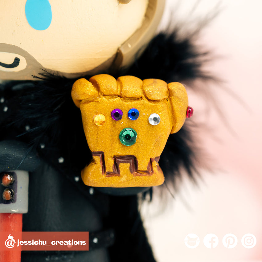 Geeky Couple Inspired Disney x GOT x Marvel x Pokemon x Rick & Morty Wedding Cake Topper