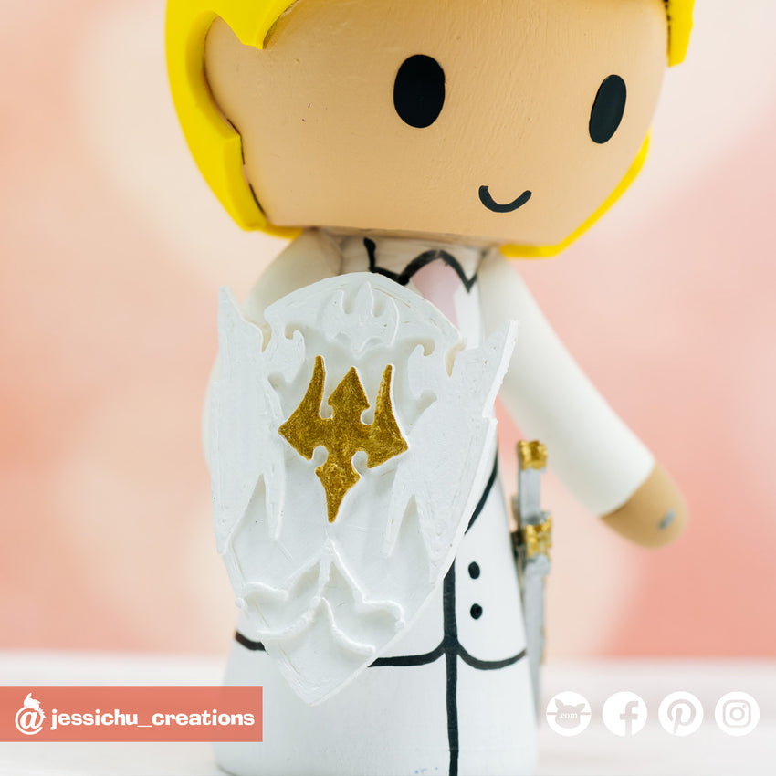 Final Fantasy XIV Paladin | Custom Handmade Wedding Cake Topper | Jessichu Creations