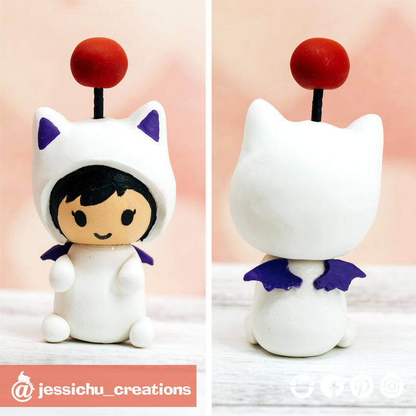 Moogle Toddler | Custom Handmade Wedding Cake Topper Figurines | Jessichu Creations