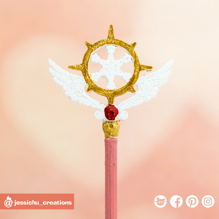 Cardcaptor Sakura Wand | Accessories | Custom Handmade Wedding Cake Topper Figurines | Jessichu Creations