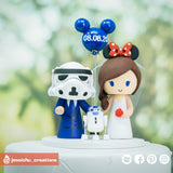 Stormtrooper & Minnie Mouse | Disney x Star Wars | Custom Handmade Wedding Cake Topper | Jessichu Creations