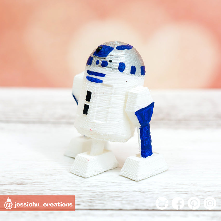 R2D2 | Sidekick | Star Wars | Custom Handmade Wedding Cake Topper Figurines | Jessichu Creations