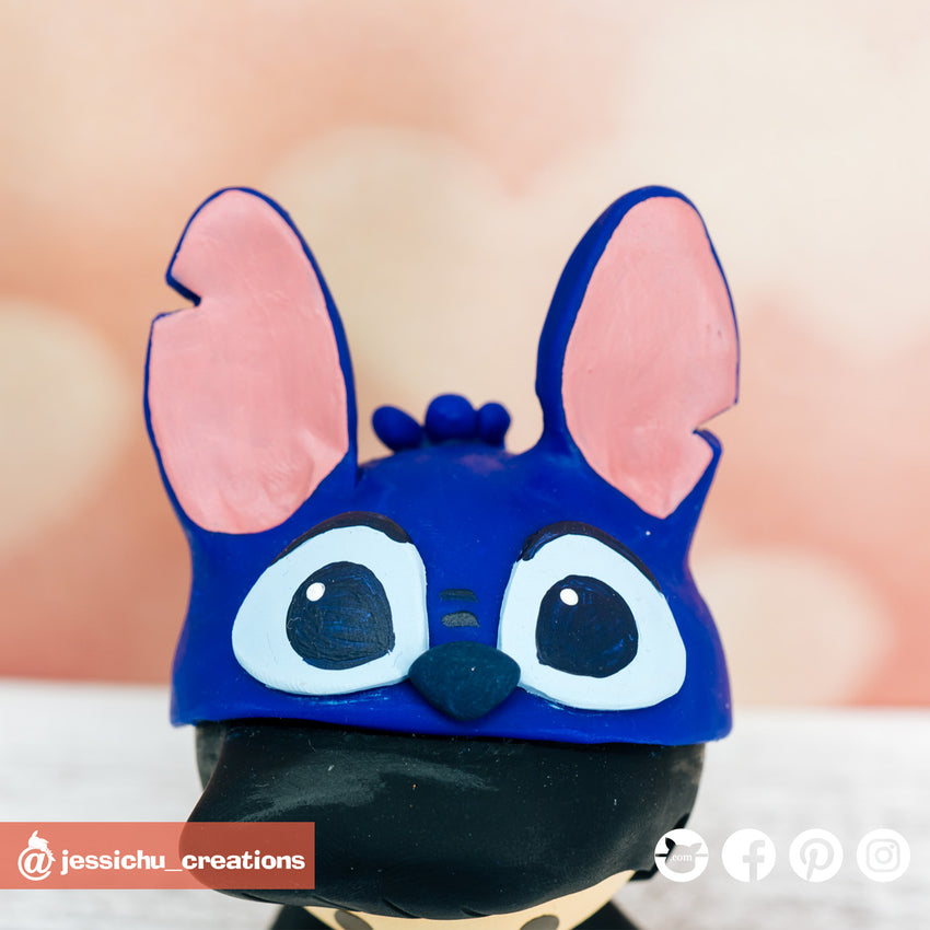 Stitch | Disney x Lilo and Stitch | Custom Handmade Wedding Cake Topper Figurines | Jessichu Creations