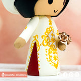 Traditional Vietnese Ao Dai Couple Custom Wedding Cake Topper | Wedding Cake Toppers | Cake Topper Gallery | Jessichu Creations