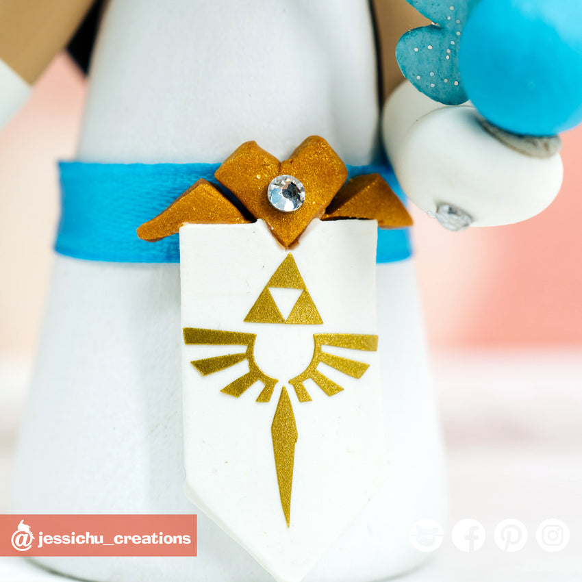 Pokemon Master Groom & Zelda Bride Custom Made Figurine Wedding Cake Topper | Wedding Cake Toppers | Cake Topper Gallery | Jessichu Creations