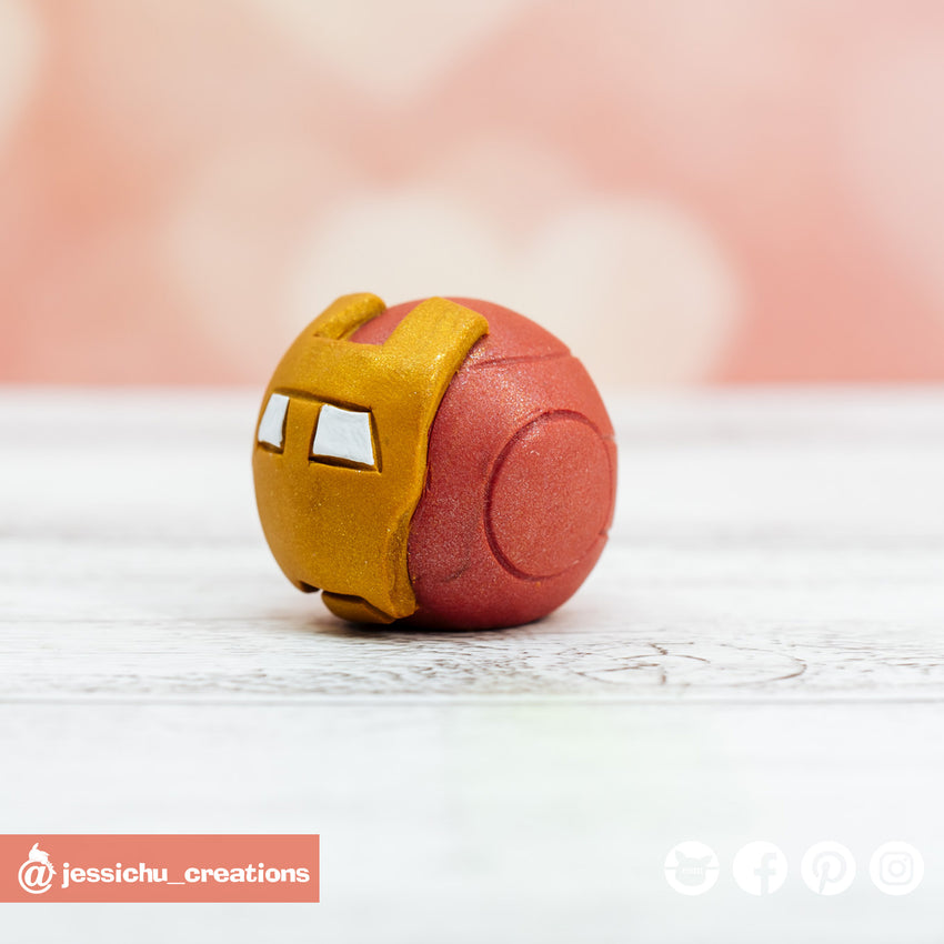 Mini Ironman Helmet | Accessories | Custom Handmade Wedding Cake Topper Figurines | Jessichu Creations