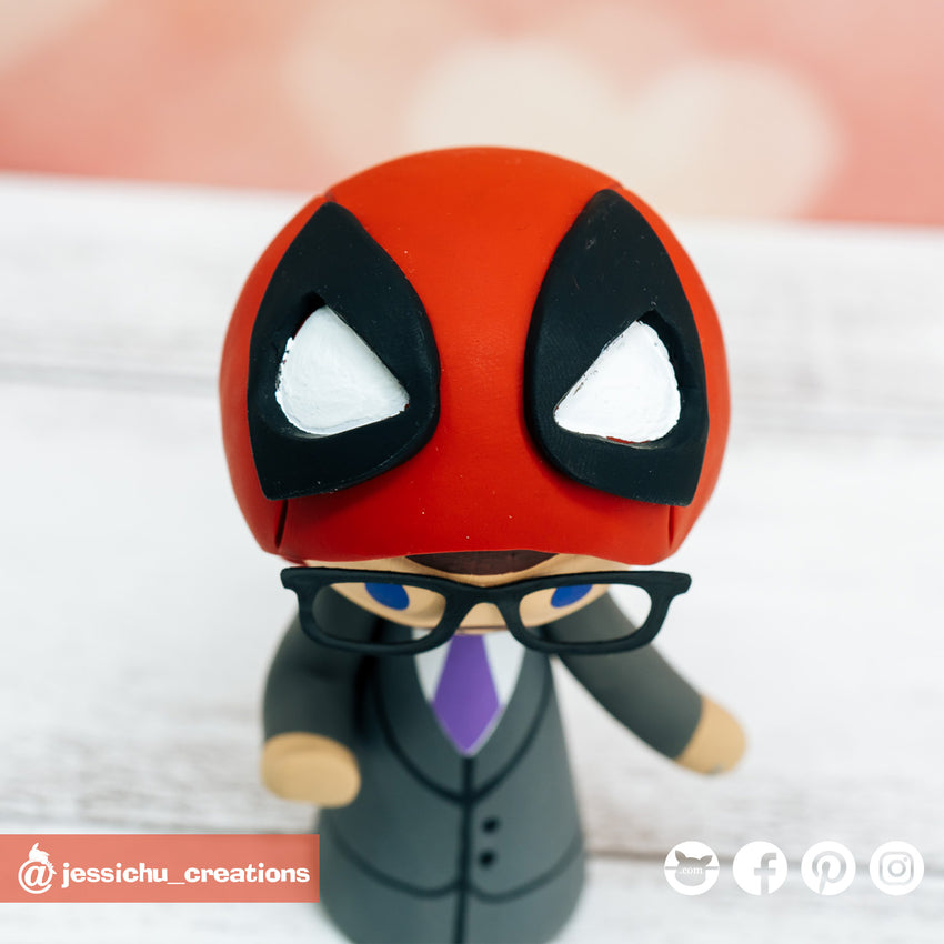 Deadpool Groom & Harry Potter Ravenclaw Bride Inspired Marvel x HP Wedding Cake Topper | Wedding Cake Toppers | Cake Topper Gallery | Jessichu Creations