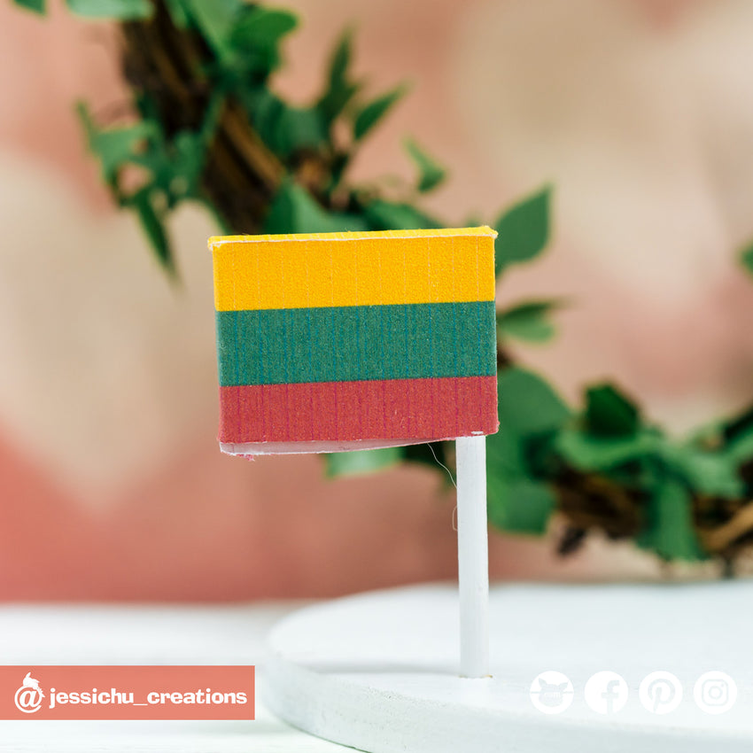Peruvian Flag | Custom Handmade Wedding Cake Topper | Jessichu Creations