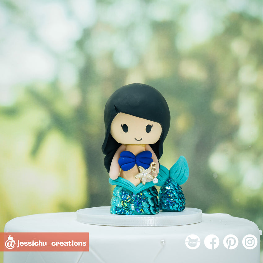 Ariel & Flounder | Disney  x Little Mermaid | Custom Handmade Birthday Cake Topper | Jessichu Creations